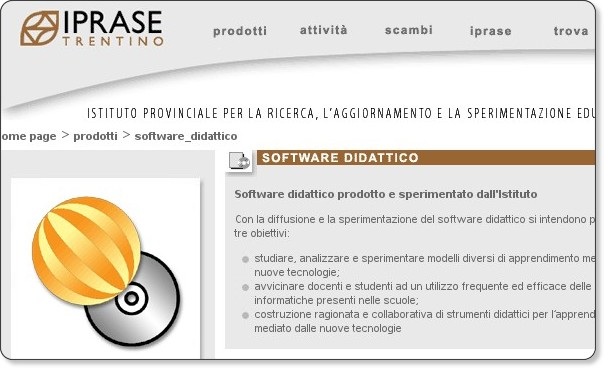 http://www.iprase.tn.it/prodotti/software_didattico/index.asp