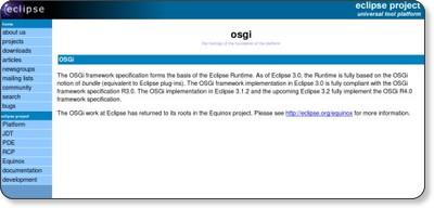 http://www.eclipse.org/osgi/