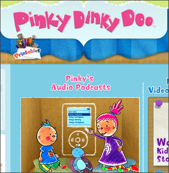 http://www.pinkydinkydoo.com/podcasts.html