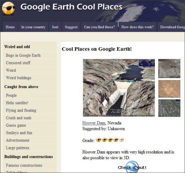 Google Earth Cool Places Weird Famous And Beautiful Caroldoey