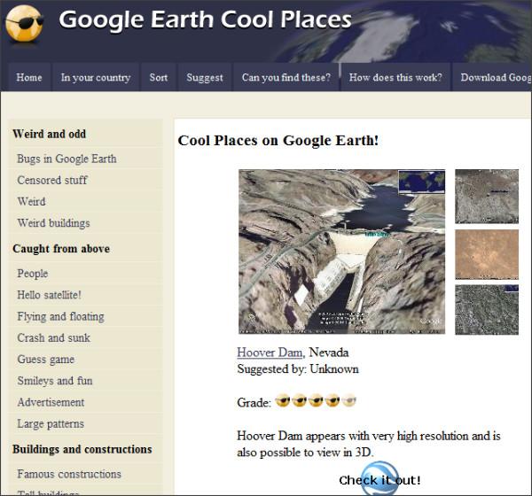 http://www.googleearthcoolplaces.com/