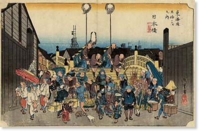 http://ja.wikipedia.org/wiki/%E6%9D%B1%E6%B5%B7%E9%81%93%E4%BA%94%E5%8D%81%E4%B8%89%E6%AC%A1_(%E6%B5%AE%E4%B8%96%E7%B5%B5)#/media/File:Tokaido_Nihonbashi2.jpg