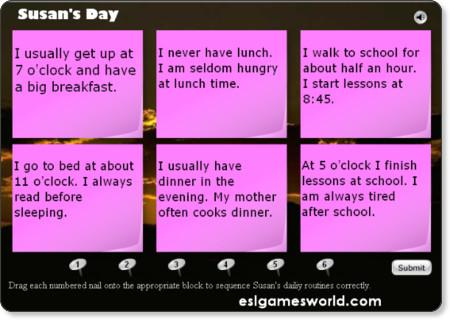 http://www.eslgamesworld.com/members/games/grammar/present%20tenses/susans%20day%20reading%20present.html
