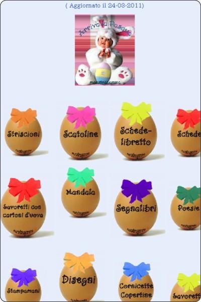 Le uova di pasqua di maestra gemma for Lavoretti di natale maestra gemma
