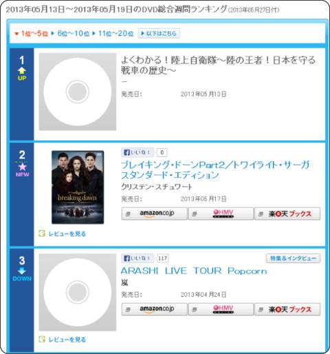http://www.oricon.co.jp/rank/dg/w/2013-05-27/