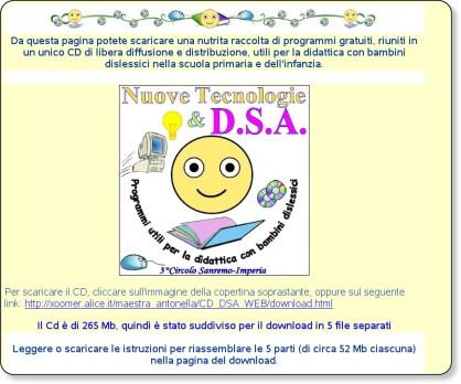http://xoomer.alice.it/maestra_antonella/CD_DSA_WEB/CD.html