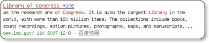 http://www.baidu.com/s?ct=0&ie=gb2312&bs=cache+options&sr=&z=&cl=3&f=8&wd=library+of+congress