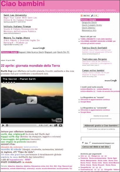 http://lamaestravisaluta2.blogspot.com/2009/04/giornata-mondiale-della-terra.html