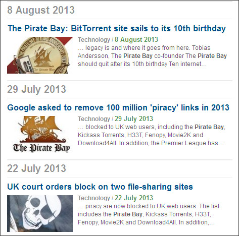 http://www.bbc.co.uk/search/news/?q=pirate%20bay