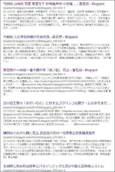 https://www.google.co.jp/search?ei=2ut2Ws6NC-mu0gKhq7eoAg&q=site%3A%2F%2Ftokumei10.blogspot.com+%E5%BC%93%E5%89%8A%E6%B0%8F&oq=site%3A%2F%2Ftokumei10.blogspot.com+%E5%BC%93%E5%89%8A%E6%B0%8F&gs_l=psy-ab.3...1735.3238.0.4072.2.2.0.0.0.0.130.245.0j2.2.0....0...1c.2.64.psy-ab..0.0.0....0.OAsknlFlmhg