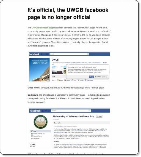 http://blog.uwgb.edu/social-web/its-official-the-uwgb-facebook-page-is-no-longer-official/
