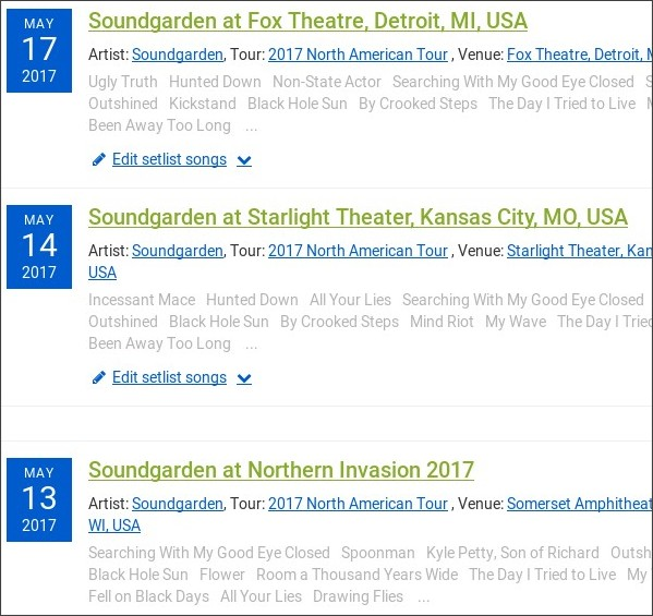http://www.setlist.fm/search?artist=3d689eb&query=tour:%282017+North+American+Tour%29