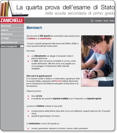 http://scuola.zanichelli.it/online/quartaprova/