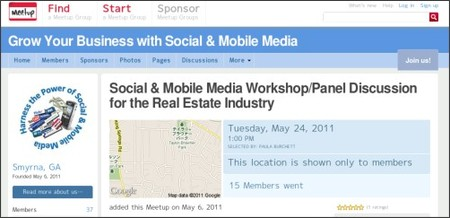 http://www.meetup.com/Social-Mobile-Media-Workshop-for-Professionals/events/17569162/