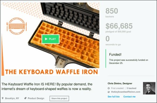 https://www.kickstarter.com/projects/1304060422/the-keyboard-waffle-iron
