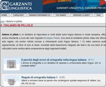 http://www.garzantilinguistica.it/it/videos