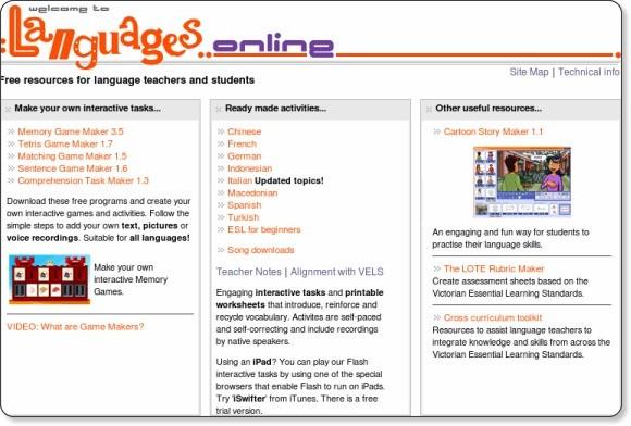 http://www.education.vic.gov.au/languagesonline/default.htm