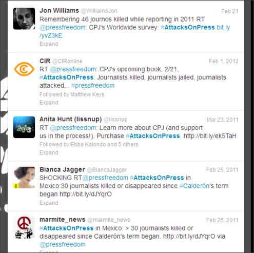 https://twitter.com/search?q=%23AttacksOnPress&src=hash