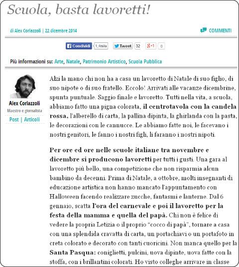 http://www.ilfattoquotidiano.it/2014/12/22/scuola-basta-lavoretti/1287139/
