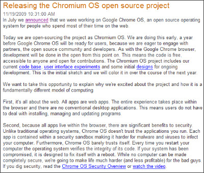 http://googleblog.blogspot.com/2009/11/releasing-chromium-os-open-source.html
