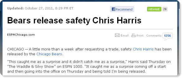 http://espn.go.com/chicago/nfl/story/_/id/7155185/chicago-bears-release-chris-harris