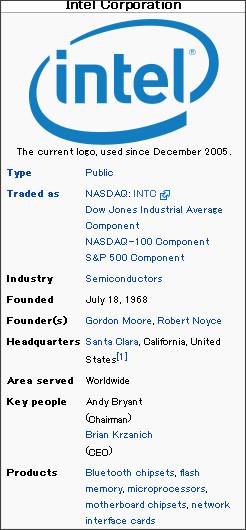http://en.wikipedia.org/wiki/Intel