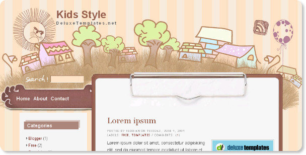 Top Ten Artistic Style Free Blogger Templates - totalinfo90