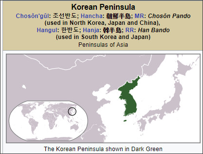 https://en.wikipedia.org/wiki/Korean_Peninsula