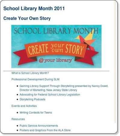 http://www.ala.org/ala/mgrps/divs/aasl/aaslissues/slm/schoollibrary.cfm