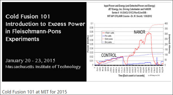 http://coldfusionnow.org/cold-fusion-101-at-mit-for-2015/