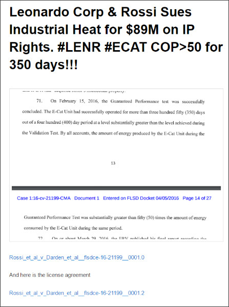 http://www.sifferkoll.se/sifferkoll/leonardo-corp-and-rossi-sues-industrial-heat-for-89m-on-ip-rights-cop50-for-350-days-lenr/
