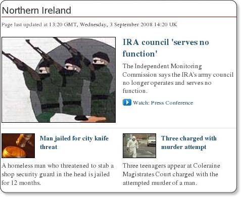http://news.bbc.co.uk/2/hi/uk_news/northern_ireland/default.stm
