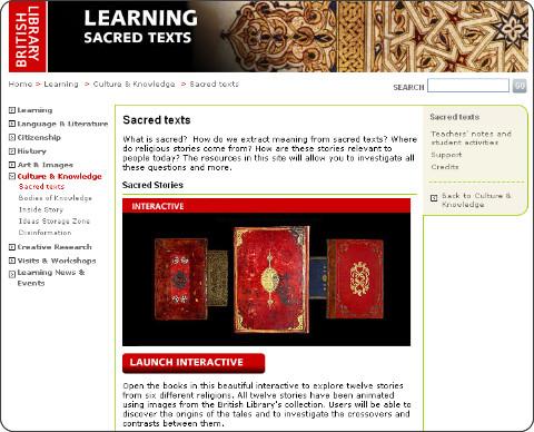 http://www.bl.uk/learning/cult/sacredbooks/sacredintro.html