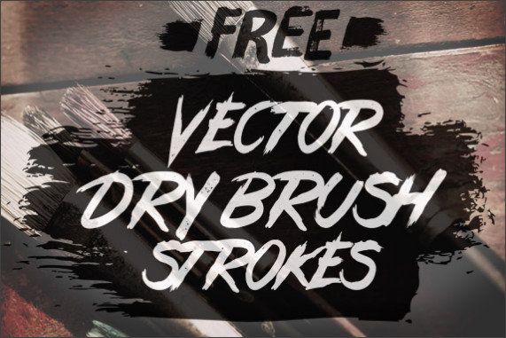 http://blog.spoongraphics.co.uk/freebies/24-free-vector-dry-brush-stroke-illustrator-brushes
