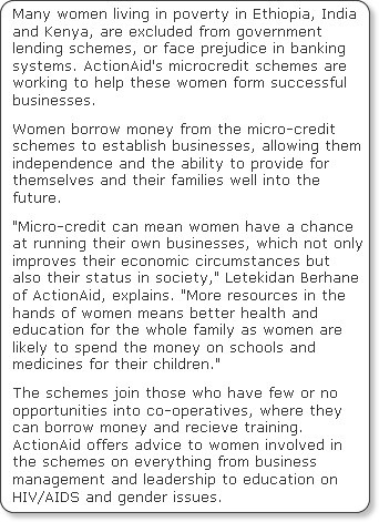 http://www.independent.co.uk/news/world/africa/microcredit-schemes-creates-strong-independent-businesswomen-1708434.html