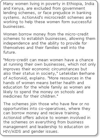 http://www.independent.co.uk/news/world/africa/microcredit-schemes-creates-strong-independent-businesswomen-1708434.html