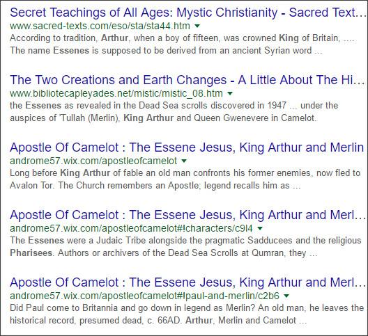 https://www.google.co.jp/?hl=EN&gws_rd=cr&ei=xaUwVt7eFM_KjwPjtYe4DA#hl=EN&q=King+Arthur+Essenes