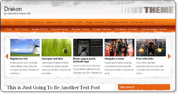Free Magazine Blogger Template