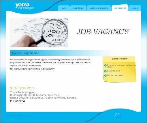 http://www.yomatechnologies.com/job-vacancy.htm