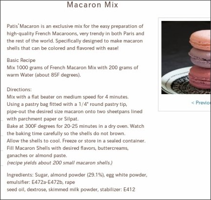 http://marquefoods.com/products/macaron-mix