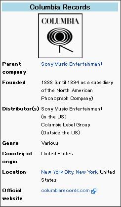 http://en.wikipedia.org/wiki/Columbia_Records