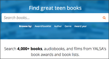 http://booklists.yalsa.net/