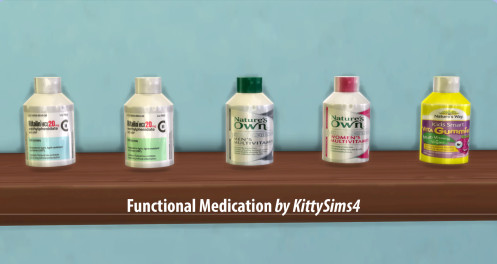 http://kittysims4.tumblr.com/post/115947705874/functional-medication-17-functional-drugs-for