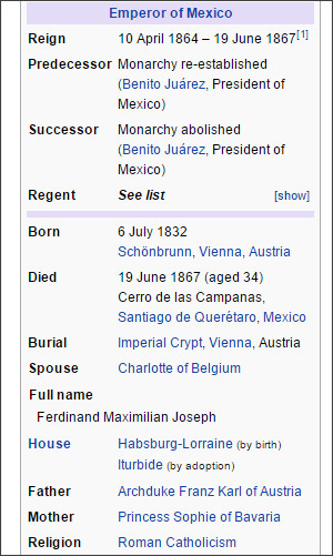 https://en.wikipedia.org/wiki/Maximilian_I_of_Mexico