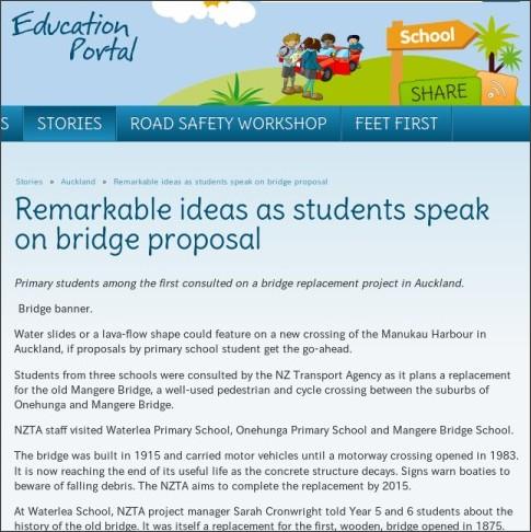 http://education.nzta.govt.nz/stories/auckland/remarkable-ideas-as-students-speak-on-bridge-proposal