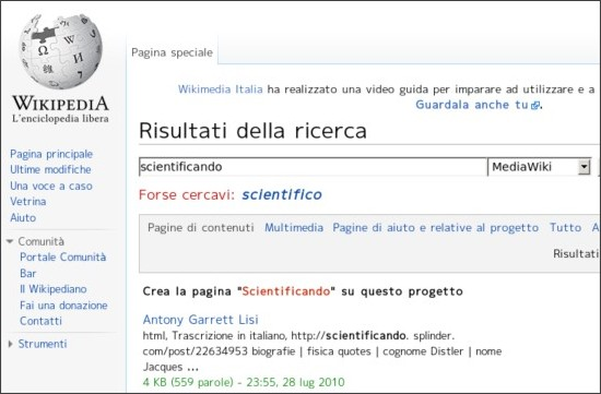 http://it.wikipedia.org/wiki/Speciale:Ricerca?search=scientificando&sourceid=Mozilla-search