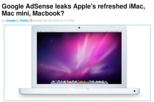 http://www.engadget.com/2009/10/04/google-adsense-leaks-apples-refreshed-imac-mac-mini-macbook/