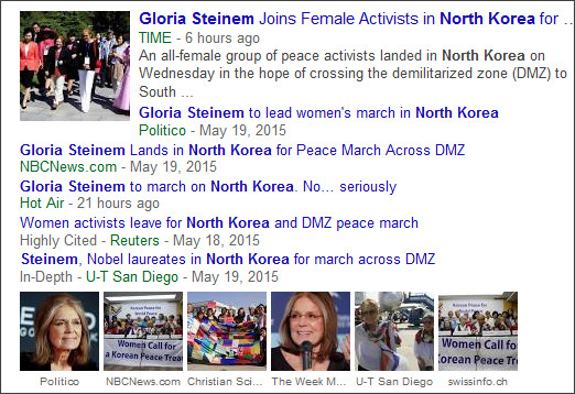 https://www.google.com/search?hl=en&gl=us&tbm=nws&authuser=0&q=Korea&oq=Korea&gs_l=news-cc.3..43j0l10j43i53.6617.7572.0.8165.5.5.0.0.0.0.150.672.0j5.5.0...0.0...1ac.u1Y14y9vERQ#hl=en&gl=us&authuser=0&tbm=nws&q=gloria+steinem+north+korea