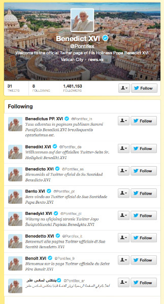 https://twitter.com/Pontifex/following
