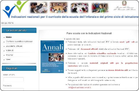 http://www.indicazioninazionali.it/J/